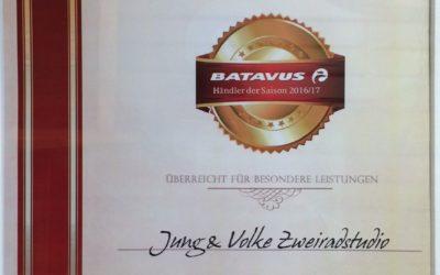 Jung & Volke wird Batavus-Händler der Saison 2016/17